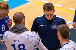 Trainer/coach Arjan Taaij during the league match between Active Living Orion vs. Amysoft Lycurgus on March 20, 2021 in Doetinchem.