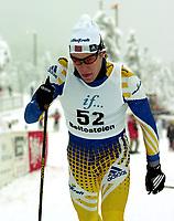 Cross Country Skiing, Beitosprinten 18. november 2000, klassisk. Brynjar Skjærli, Lillehammer.