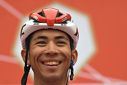 March 1, 2019 - Ajman, United Arab Emirates - Australia's Caleb Ewan of Lotto Soudal Team, seen at the start line of the sixth Rak Properties Stage of UAE Tour 2019, a 180km with a start from Ajman and finish in Jebel Jais. .On Friday, March 1, 2019, in Ajman, Ajman Emirate, United Arab Emirates. (Credit Image: © Artur Widak/NurPhoto via ZUMA Press)