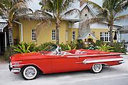 Red Chevrolet Impala convertible automobile, Anna Maria Island, Florida sunshine state, United States of America