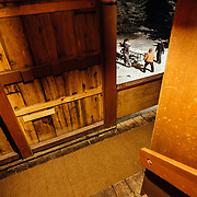 Hostel X practices for the Gelande Quaff through the stairwell of the Hostel building.