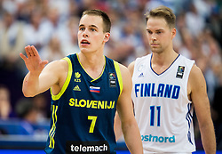 Klemen Prepelic of Slovenia during basketball match between National Teams of Finland and Slovenia at Day 3 of the FIBA EuroBasket 2017 at Hartwall Arena in Helsinki, Finland on September 2, 2017. Photo by Vid Ponikvar / Sportida