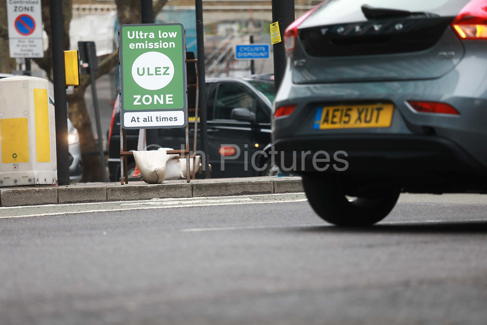 First day of the Ultra Low Emission Zone, 8th of April 2019, London, United Kingdom.  The ULEZ is one of the most ambitious anti pollution scheme in the world and has been brought in to clean up the air in Central London.
