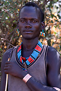 Bena Man, Bena Tribe, Omo Valley, Ethiopia, portrait, person, one, tribes, tribal, indigenous, peoples, Southern, ethnic, rural, local, traditional, culture, primitive, cattle herder, bracelet