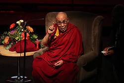The Dalai Lama speaks at the Millennium Forum, during a visit to Londonderry.