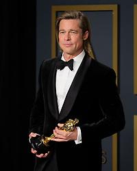 92nd Annual Academy Awards Oscar Ceremony - Press Room. 09 Feb 2020 Pictured: Brad Pitt. Photo credit: Jen Lowery / MEGA TheMegaAgency.com +1 888 505 6342