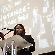 Jane Alder, whos son died in police custody. Resistance: The best Olympic Spirit. With John Carlos, Doreen Lawrence, Janet Alder and others.