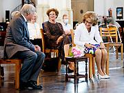 NIJMEGEN, 03-06-2021, Stevenskerk<br /> <br /> Prinses Margriet en prof. mr. Pieter van Vollenhoven tijdens  het afscheidscollege van prof. dr. J.E.E. Keunen in de Stevenskerk in Nijmegen. Met het afscheidscollege 'Oog voor context; de verhalen van een (h)oogleraar' neemt prof. dr. Keunen afscheid als oogarts bij het Radboudumc en hoogleraar aan de Radboud Universiteit, Faculteit der Medische Wetenschappen met de leeropdracht Oogheelkunde. FOTO: Brunopress/Patrick van Emst