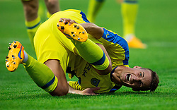 Korun Uros of NK Domzale reacts during 1st Leg football match between NK Domzale (SLO) na FC Cukaricki (SRB) in 1st Round of Europe League 2015/2016 Qualifications, on July 2, 2015 in Sports park Domzale,  Slovenia. Photo by Vid Ponikvar / Sportida