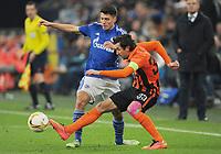 Fotball<br /> Tyskland<br /> 25.02.2016<br /> Foto: Witters/Digitalsport<br /> NORWAY ONLY<br /> <br /> v.l. Alessandro Schoepf , Darijo Srna (Donezk)<br /> <br /> Gelsenkirchen, 25.02.2016, Fussball Europa League, Zwischenrunde Rueckspiel, FC Schalke 04 - Schachtar Donezk<br /> Shaktar Donetsk