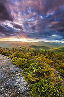 Clearing storm and suset light over the Nebraska Range from White Rocks, Putnam State Forest, Vermont.