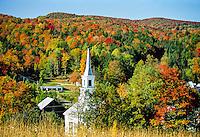 Autumn view, Waits River, Vermont USA