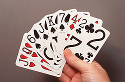 Playing cards for people with visual impairments,