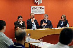 José Fortunati durante reunião de Diretoria do Sindicato da Hotelaria e Gastronomia – SINDPOA. FOTO: Jefferson Bernardes/Preview.com