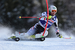 06.01.2014, Stelvio, Bormio, ITA, FIS Weltcup Ski Alpin, Bormio, Slalom, Herren, im Bild Manfred Pranger // Manfred Pranger  in action during mens Slalom of the Bormio FIS Ski World Cup at the Stelvio in Bormio, Italy on 2014/01/06. EXPA Pictures © 2014, PhotoCredit: EXPA/ Sammy Minkoff<br /> <br /> *****ATTENTION - OUT of GER*****