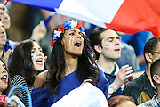 SAINT-DENIS, FRANCE, 06.10.2016 - FRANCE-ROMANIA - Supporter of France during the match against Romania in a match valid for the 1st round of Group A of Euro 2016 in the Stade de France in Saint-Denis, on Friday (10).