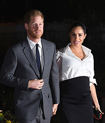 The Duke and Duchess of Sussex arriving at the Endeavour Fund Awards at DraperÕs Hall, London. The awards celebrate the achievements of wounded, injured and sick servicemen and women who have taken part in sporting and adventure challenges over the last year.<br />