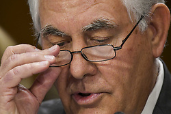 June 13, 2017 - Washington, District of Columbia, U.S - Secretary of State REX TILLERSON testifies in front of the Senate Foreign Relations Committee on spending cuts. (Credit Image: © Mark Reinstein via ZUMA Wire)