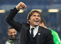 Football - 2016 / 2017 Premier League - Chelsea vs. Watford<br /> <br /> A jubilant Chelsea Manager Antonio Conte after the match at Stamford Bridge.<br /> <br /> COLORSPORT/ANDREW COWIE