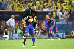 June 25, 2018 - Kazan, Russia - Wilmar Barrios and David Ospina of Colombia celebrates during the 2018 FIFA World Cup Group H match between Poland and Colombia at Kazan Arena in Kazan, Russia on June 24, 2018  (Credit Image: © Andrew Surma/NurPhoto via ZUMA Press)