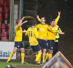 Falkirk's Blair Alston (8) celebrates after scoring their goal..Dunfermline 0 v 1 Falkirk, 26/12/2012..©Michael Schofield.