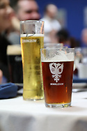 AFC Wimbledon pint glass during the EFL Sky Bet League 1 match between AFC Wimbledon and Oxford United at the Cherry Red Records Stadium, Kingston, England on 10 March 2018. Picture by Matthew Redman.