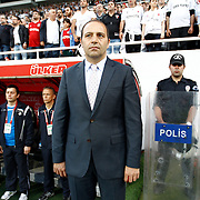 Genclerbirligi's coach Fuat Capa during their Turkish superleague soccer match Besiktas between Genclerbirligi at BJK Inonu Stadium in Istanbul Turkey on Saturday 11 May 2013. Photo by Aykut AKICI/TURKPIX