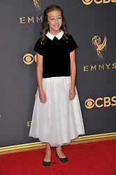 Aubrey Anderson-Emmons at the 69th Annual Emmy Awards held at the Microsoft Theater on September 17, 2017 in Los Angeles, CA, USA (Photo by Sthanlee B. Mirador/Sipa USA)