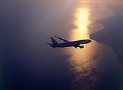 Boeing 777 in flight