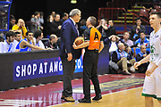 DESCRIZIONE : Milano Final Eight Coppa Italia 2014 Finale Montepaschi Siena - Dinamo Banco di Sardegna Sassari<br /> GIOCATORE : Romeo Sacchetti Carmelo Paternicò<br /> CATEGORIA : Fair Play<br /> SQUADRA : Dinamo Banco di Sardegna Sassari<br /> EVENTO : Final Eight Coppa Italia 2014 Milano<br /> GARA : Montepaschi Siena - Dinamo Banco di Sardegna Sassari<br /> DATA : 09/02/2014<br /> SPORT : Pallacanestro <br /> AUTORE : Agenzia Ciamillo-Castoria / Luigi Canu<br /> Galleria : Final Eight Coppa Italia 2014 Milano<br /> Fotonotizia : Milano Final Eight Coppa Italia 2014 Finale Montepaschi Siena - Dinamo Banco di Sardegna Sassari<br /> Predefinita :