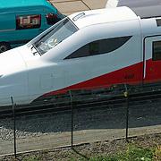 Amsterdam, 06-07-2013. Op het serviceterrein van NedTrain in de Watergraafsmeer te Amsterdam, staan alle uit de dienst genomen FYRA treinen gestald.
