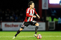 Brentford FC's Jota during the FA Cup Third Round match between Brentford and Brighton and Hove Albion at Griffin Park, London 03/01/2015<br /> Picture by Mark D Fuller