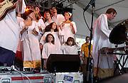 Manchester, TN.  2003 Bonnaroo Music Festival. The Polyphonic Spree performs at Bonnaroo 2004. Mandatory Credit: Bryan Rinnert/3Sight Photography..