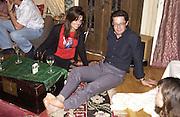 Kyle MacLachlan. Maya Fiennes dinner party. House of Cat de Rham and Jonathan Dwek. Ovington Sq. 29 June 2001. © Copyright Photograph by Dafydd Jones 66 Stockwell Park Rd. London SW9 0DA Tel 020 7733 0108 www.dafjones.com
