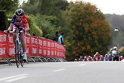 Winner Lucy Garner (Great Britain) during the Women´s Junior Road Race on day five of the UCI Road World Championships on September 23, 2011 in Copenhagen, Denmark. (Photo by Marjan Kelner / Sportida Photo Agency)