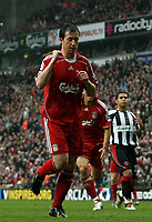 Photo: Paul Thomas.<br /> Liverpool v Sheffield United. The Barclays Premiership. 24/02/2007.<br /> <br /> Robbie Fowler of Liverpool celebrates his first penalty of the after noon.
