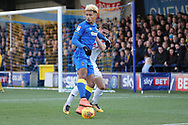 AFC Wimbledon striker Lyle Taylor (33) dribbling during the EFL Sky Bet League 1 match between AFC Wimbledon and Walsall at the Cherry Red Records Stadium, Kingston, England on 25 November 2017. Photo by Matthew Redman.