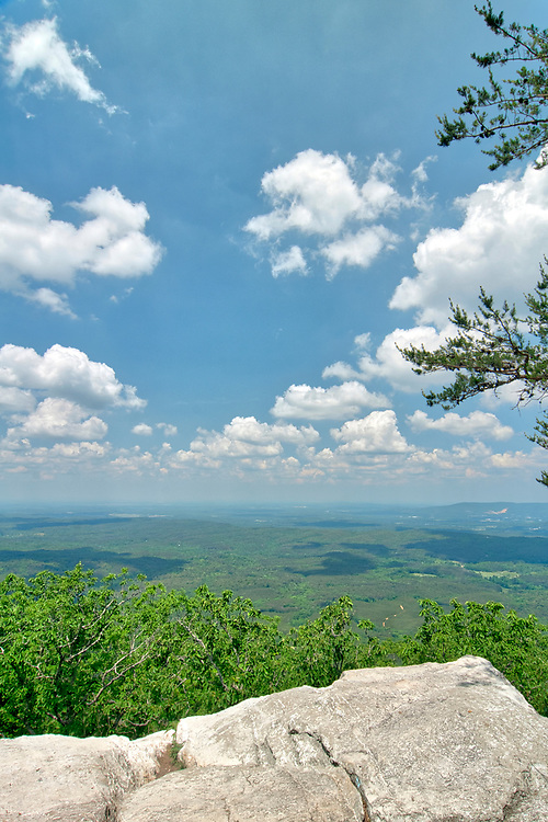 The view from Bald Rock in Cheaha State Park in Delta, Alabama on Monday, May 14, 2018. Copyright 2018 Jason Barnette