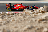 RAIKKONEN kimi (fin) ferrari sf15t action during 2015 Formula 1 FIA world championship, Bahrain Grand Prix, at Sakhir from April 16 to 19th. Photo Florent Gooden / DPPI