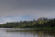 Landscape with a rainforest on the bank of the San Juan River, Nicaragua