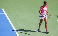 PORTOROZ, SLOVENIA - SEPTEMBER 13: Viktoria Kuzmova of Slovakia competes during the 2nd Qualifying Round of WTA 250 Zavarovalnica Sava Portoroz at SRC Marina, on September 13, 2021 in Portoroz / Portorose, Slovenia. Photo by Vid Ponikvar / Sportida