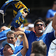 Argentina fans during the Brazil V Argentina International Football Friendly match at MetLife Stadium, East Rutherford, New Jersey, USA. 9th June 2012. Photo Tim Clayton