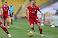 Aberdeen's Dylan McGeouch (15) dribbles the ball during the Scottish Premiership match between Livingston and Aberdeen at Tony Macaroni Arena, Livingstone, Scotland on 1 May 2021.