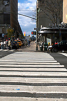 Pedestrian crossing in Midtown Manhattan New York