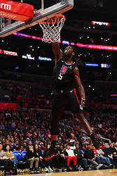 February 14, 2019 - Los Angeles, CA, U.S. - LOS ANGELES, CA - FEBRUARY 13: Los Angeles Clippers Center Montrezl Harrell (5) dunks the ball during a NBA game between the Phoenix Suns and the Los Angeles Clippers on February 13, 2019 at STAPLES Center in Los Angeles, CA. (Photo by Brian Rothmuller/Icon Sportswire) (Credit Image: © Brian Rothmuller/Icon SMI via ZUMA Press)