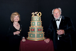 © Licensed to London News Pictures.29/05/2016. Bristol, UK.  Stars of the stage and screen, PRUNELLA SCALES and TIMOTHY WEST with a birthday cake at the Bristol Old Vic in King Street as the theatre celebrates its 250th birthday on 30 May 2016 as the oldest continuously working theatre in the English speaking world. Following a recent £12.5 million redevelopment project, the Bristol Old Vic is now one of the most modern and comfortable theatres with state of the art rehearsal rooms, a dramatically extended forestage and precision-engineered sightlines giving audiences an even more intimate theatrical experience. Photo credit : Simon Chapman/LNP