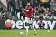 West Ham United defender Issa Diop (23) during the The FA Cup 3rd round match between West Ham United and Birmingham City at the London Stadium, London, England on 5 January 2019.