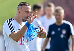 Bayern Munich's Franck Ribery takes part in a training session during the team's winter training camp 0n day 4 at the Aspire Academy for Sports Excellence in the Qatari capital Doha on January 5, 2018. (Credit Image: © Nikku/Xinhua via ZUMA Wire)