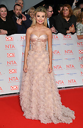 Georgia Toffolo attending the National Television Awards 2018 held at the O2, London. Photo credit should read: Doug Peters/EMPICS Entertainment
