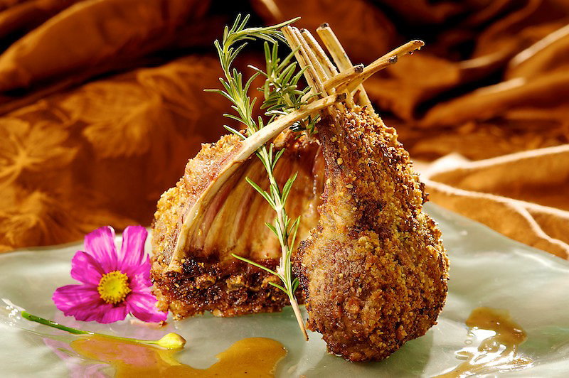 Married Rack Of Lamb prepared by Chef Franco Lania